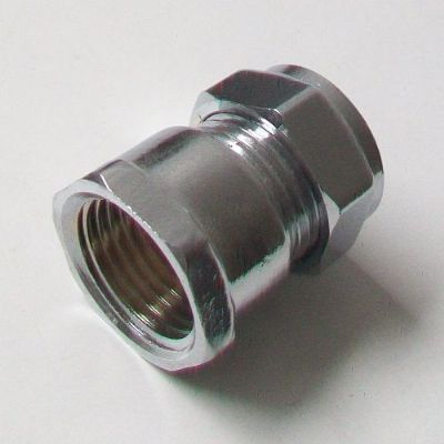 Chrome 15mm x 1/2 Female Iron Compression Coupling